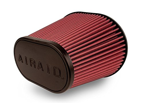 Airaid 721-472 Universal Clamp-On Air Filter: Oval Tapered; 6 in (152 mm) Flange ID; 9 in (229 mm) Height; 10.75 in x 7.75 in (273 mm x 197 mm) Base; 7.25 in x 4.25 in (184 mm x108 mm) Top