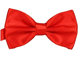 d42f458d9b98 UtopyaUK® Mens Dickie Bow Tie Satin Plain & Novelty Adjustable Clip  Fastening Pre Tied Wedding