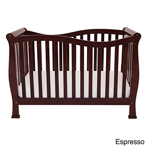 Afg Baby Furniture - AFG Baby Furniture Mikaila Zoe 3-in-1 Convertible Crib Espresso Espresso Finish