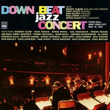 Down Beat Jazz Concert. Town Hall, New York City. May 16, 1958