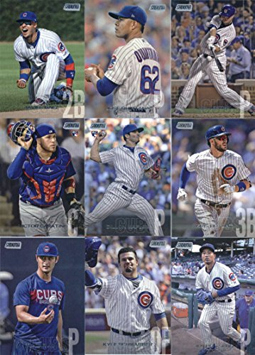 2018 Topps Stadium Club Baseball Chicago Cubs Team Set of 15 Cards: Javier Baez(#30), Jose Quintana(#31), Jon Lester(#56), Ryne Sandberg(#75), Victor Caratini(#114), Dillon Maples(#158), Anthony Rizzo(#165), Ian Happ(#190), Kris Bryant(#201), Willson Contreras(#215), Yu Darvish(#244), Kyle Schwarber(#273), Addison Russell(#286), Jason Heyward(#289), Jen-Ho Tseng(#292)