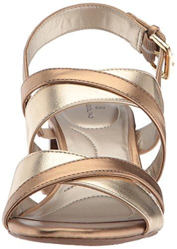 Sandalo Con Tacco A Spillo Bandolino Da Donna Morbido Oro / Bronzo Profondo