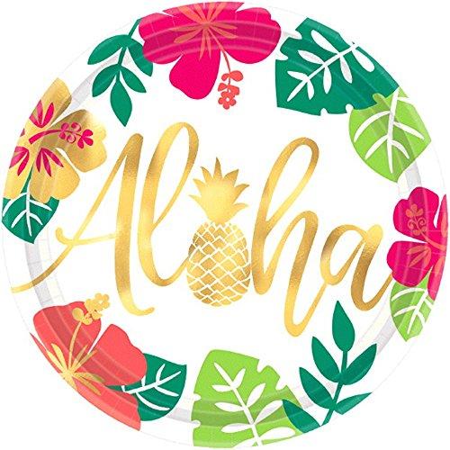 Hawaiian Luau 'Aloha' Extra Large Paper Plates (8ct)