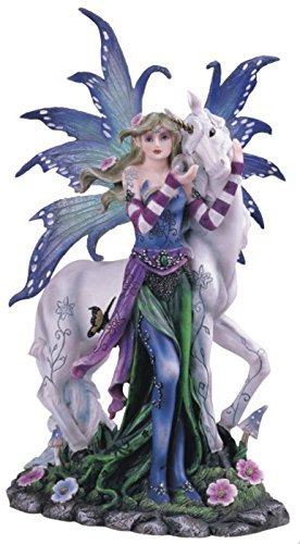 Figurine Butterfly Fairy (StealStreet Blue Fairy with Unicorn And Butterfly Collectible Figurine Statue)