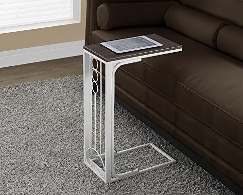 Monarch Specialties Cherry Top Antique White Metal Accent Table
