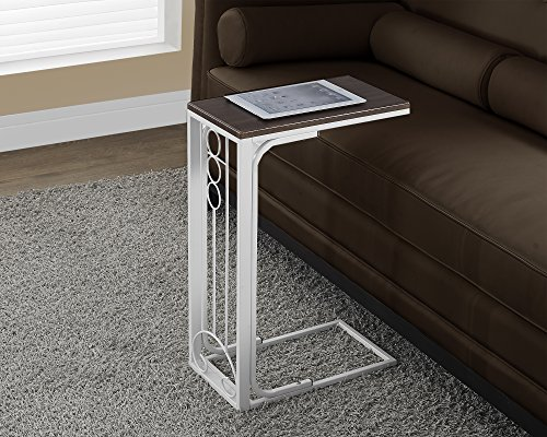 Monarch Specialties Cherry Top/Antique White Metal Accent Table