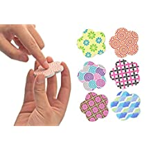 NOPPOR Flower Shape Mini Pedicure Emery Boards Sanding Nail File Tools (48Pack)