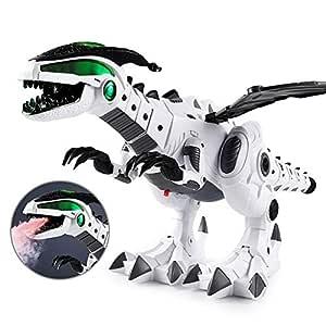 AOLVO Robots mecánicos de Dinosaurio con rociador de Agua