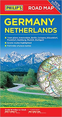 Road Map Of Germany 2017.Philip S Germany And Netherlands Road Map Philips Road Map