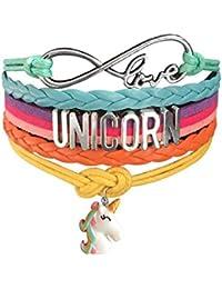 Cute Unicorn Bracelet Wristband Handmade Rainbow Jewelry Infinity Love Charm Gifts 14 Styles