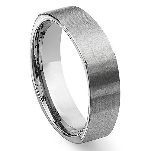 MFC Tungsten Square Wedding Band Ring Sz 9.5 -