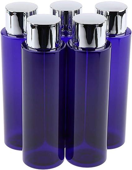 5 Piezas Caja de Plástico Envase Cosmética Estuche de Champú Botella de Viaje - 250ml: Amazon.es: Belleza