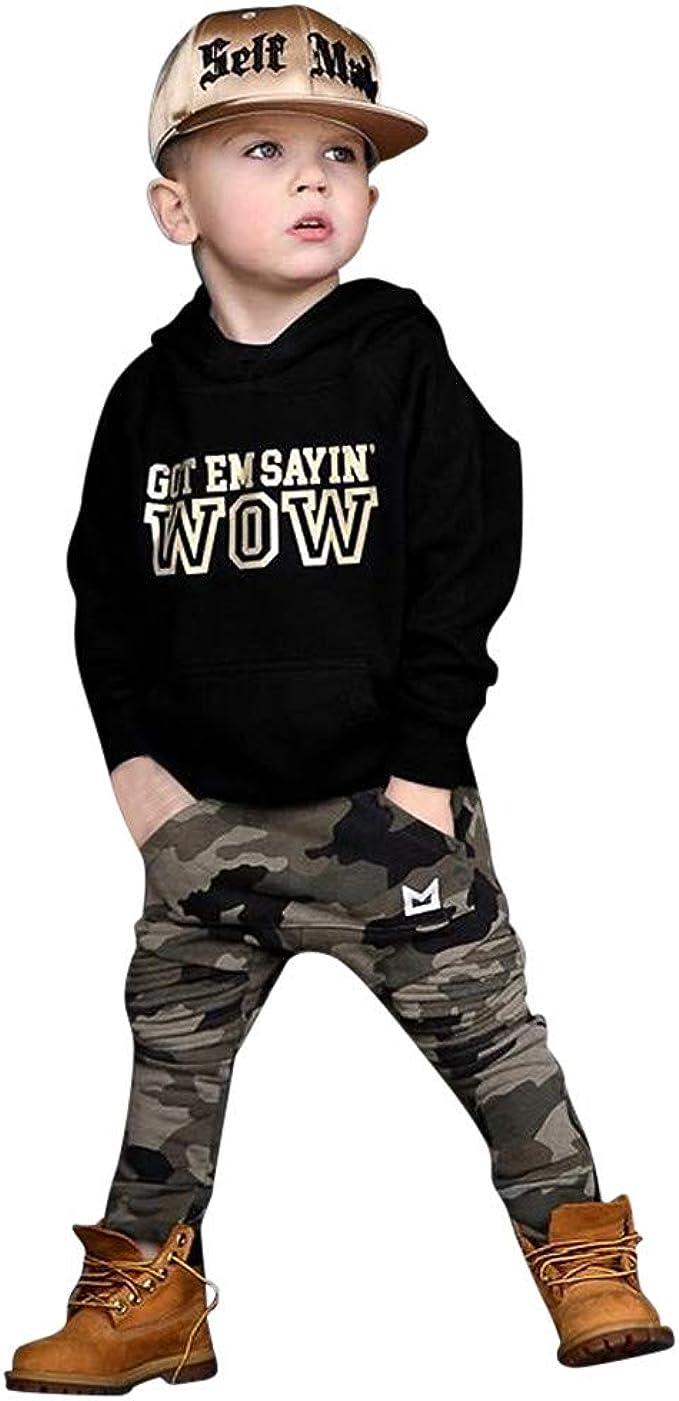 TTLOVE Sommer Kinder Kleidung Infant Baby Boy Kid Brief Gedruckt T-Shirt Tops Camouflage Shorts Outfits Set