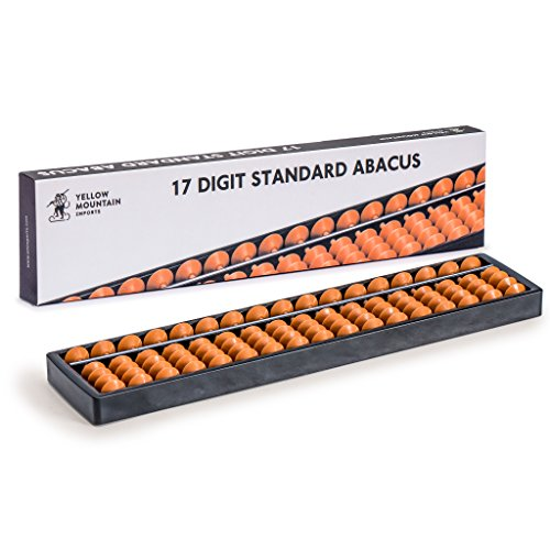 Yellow Mountain Imports Classic Abacus, Soroban Calculator, 10.5 Inches, 17 Column -