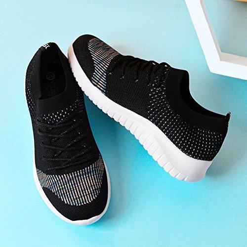 para Black HK2135 Mujer de TIOSEBON Running Zapatillas 2135 gBSayxR