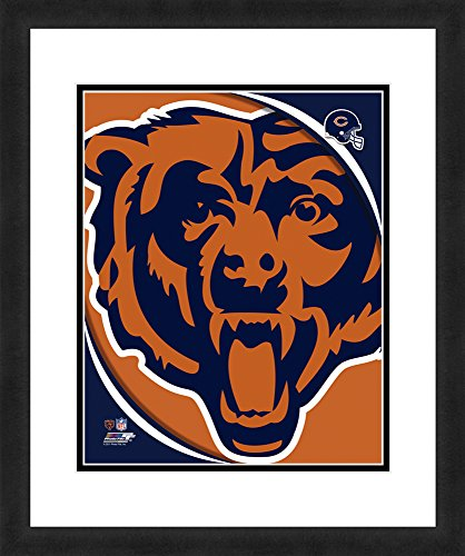 NFL Chicago Bears Logo, Beautifully Framed and Double Matted, 18