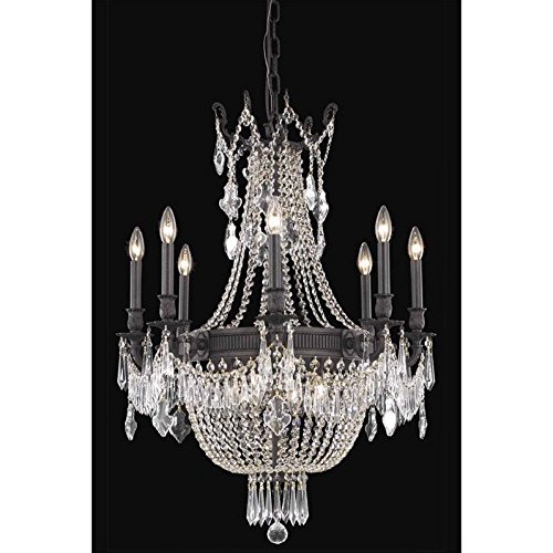 Elegant Lighting 9312D26DB/SS Esperanza Collection 12-Light Hanging Fixture with Swarovski Strass/Elements Crystals, Dark Bronze Finish