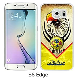 Club America 2 White Case with Fashion and Luxurious Design for Custom Samsung Galaxy S6 Edge