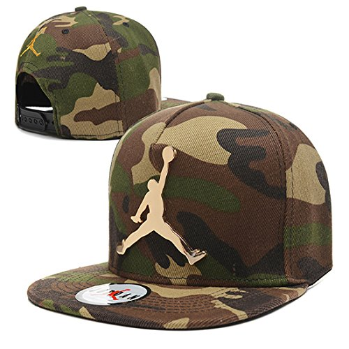 Jordan Iron standard hip-hop Cap NBA basketball Adjustable Hat Green 1 One (Jordan Mens Hat)