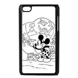 iPod Touch 4 Case Black Mickey Mouse and Donald Duck8 Okzeq