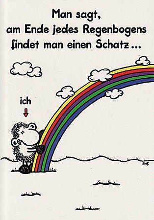 Sheepworld Love Card With Message Am Ende Des Regenbogens
