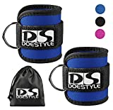 2pcs Doestyle Ankle Straps, Maximize Cable Machine Workouts with Durable Cuffs for Ab, Leg & Glute Exercises, Fitness Equipment for Women & Men