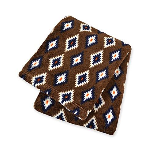 Territory Adventure Collection Fluffy Fleece Pet Blanket with Canvas Bag, Medium, Brown Diamond (Diamond Fleece Blanket)