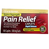 Good Sense Extra Strength Pain Relief Caplets - Raid Relief 500mg - 100 Caplets