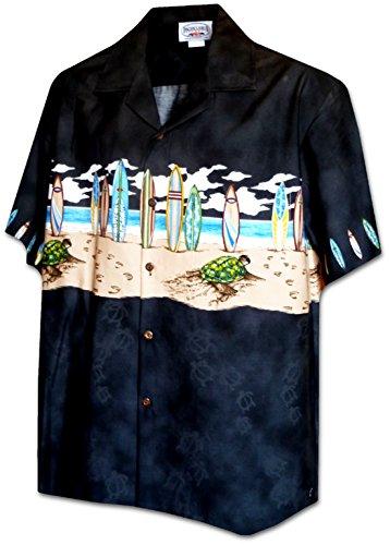 Pacific Legend Boys Surfboard Turtle Crawl Shirt BLACK L by Pacific Legend