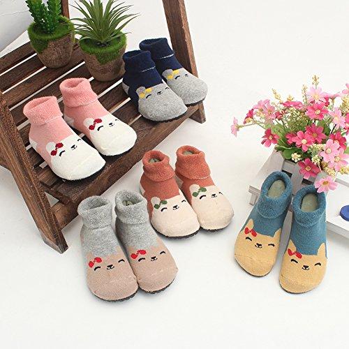 Kids Slippers Socks Floor Socks Shoes for Boys Girls Baby Rubber Bottom Soles Non Skid Non Water Protect Feet
