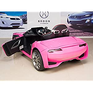 Henes-Broon-F830-with-Tablet-PC-12V-Kids-Ride-On-Car-Battery-Powered-Wheels-MP3-Remote-Control-RC-Pink