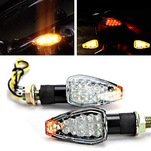 INNOGLOW Motorcycle Turn Signals 2pcs LED Bulb Indicators Motorbike Blinkers Amber Lamp Lights Fits for Choppers, Cruisers, Touring Motorbike