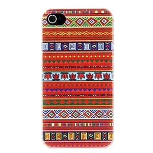 ZMY Patrón del estilo étnico de arce Dejar lienzo PC caso duro para el iPhone 4/4S