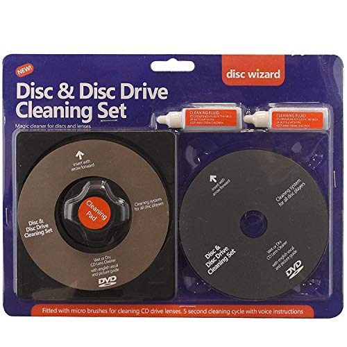 ASAB 2In1 Laser Lens Cleaner Disc Cleaning Pad Fluid Kit Ps3 Xbox One/360 Blu Ray Dvd Cd Player Removes Dust Fingerprints 1 Brush Dry Cd
