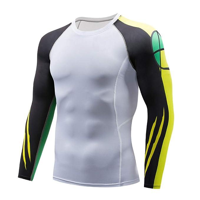 Tuta Sportiva Uomo Lunga Ihengh Shirt Blouse Top Fitness Man Manica AR5L4j