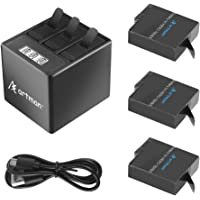 Artman Hero 7/6/5 1500mah Batteries (3 Pack) and 3-Channel LCD USB Storage Charger with Type-C Port Compatible with…