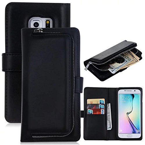 new styles 5d90f 4f690 Amazon.com: Galaxy S6 Wallet Case with Detachable Magnetic Back ...