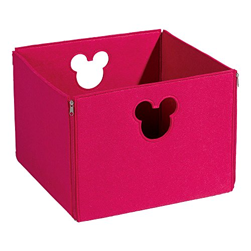 Disney Square Storage - Ethan Allen | Disney Large Fantastic Felt Square Basket, Minnie Pink