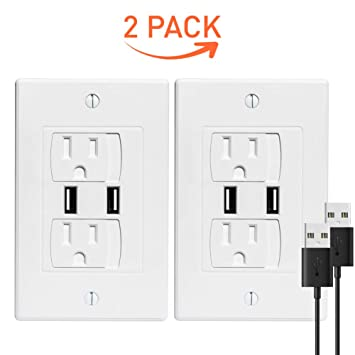Amazoncom Outlet Covers Baby Proofing With Usb Ports Self