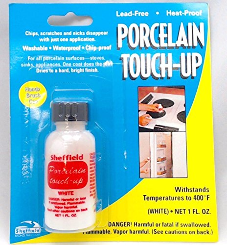 Porcelain, Heat-Proof, Appliance Touch-Up Paint, White, 1126