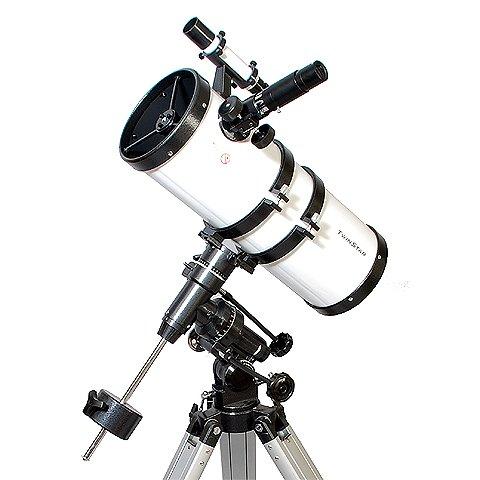 White AstroVenture 6'' Short Tube Reflector Telescope with Digital USB Camera