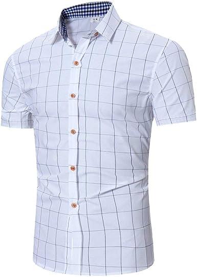 Camisa De Polo De Camisa Los Hombres Rebeca De De Verano Camisas Joven De Manga Corta A Cuadros con Cuello Camisa De Leñador De Moda Clásica: Amazon.es: Ropa y accesorios