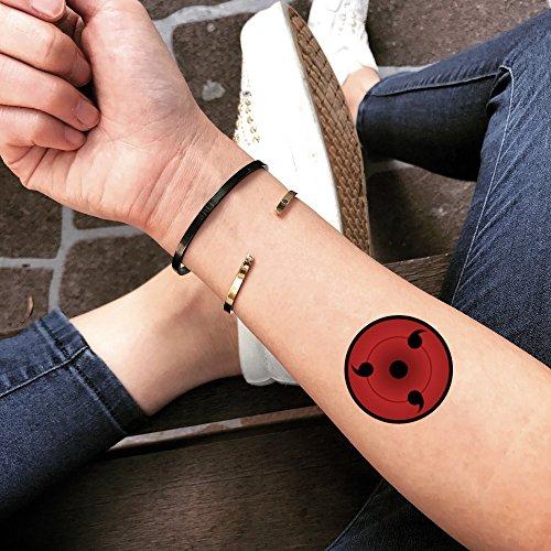 Sharingan Temporary Tattoo | Fake Tattoo Sticker (Set of 2) - TOODTATTOO.COM -