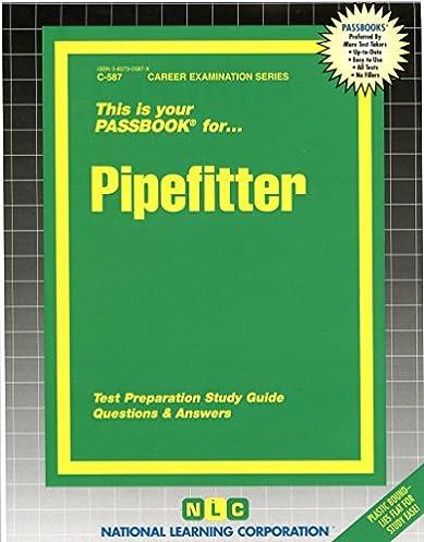 pipefitter passbooks c 587 jack rudman 9780837305875 amazon rh amazon com