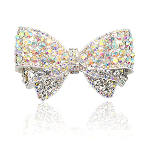 QTMY 1 Pair Handmade Rhinestone Bow Shoe Decoration DIY Crafts Findings Accessories (Multicolor -