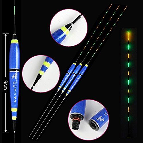 3pcs/lot Luz nocturna flotadores de pesca 1 - 3 # luminoso flotador plástico compuesto Nano Material flotteur Peche de pesca de carpa pesca Bobbers: ...