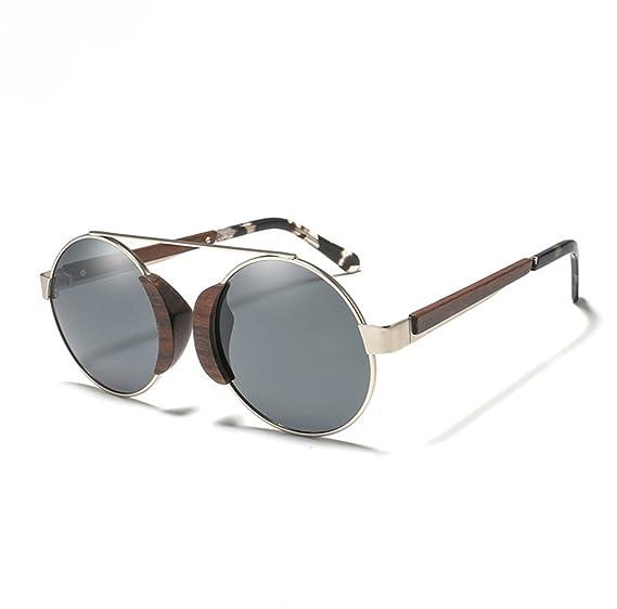 2558048978 Wood Frame Sunglasses Womens Handmade Skateboard Retro Wayfarer Mens  Polarized Lenses Sunglasses - Black