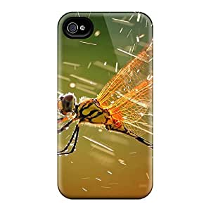 Top Quality Case Cover For Iphone 4/4s Case With Nice Dragonfly Appearance