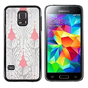 TopCaseStore / la caja del caucho duro de la cubierta de protección de la piel - Peach Wallpaper Retro Vignette - Samsung Galaxy S5 Mini, SM-G800, NOT S5 REGULAR!