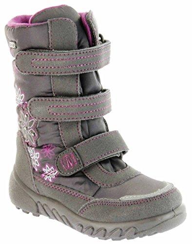 Richter Kinder Winter Boots Stiefel grau Warmfutter SympaTex Mädchen Blinkie 5151-831-6501 steel Husky WMS, Farbe:grau;Größe:32